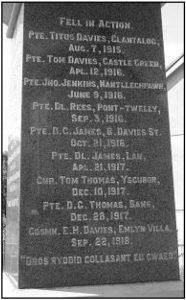 Pencader War Memorial